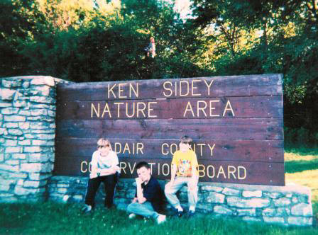 Ken Sidey Nature Area, near entrance to Lake Nodaway